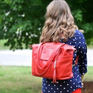 LILY JADE MADELINE BAG IN RED
